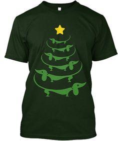 Dachshunds Christmas Sweater Pattern | Women's T-Shirt | Pattern ...