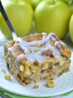 Caramel Apple Cinnamon Roll Lasagna | Chocolate Dessert Recipes – OMG Chocolate Desserts