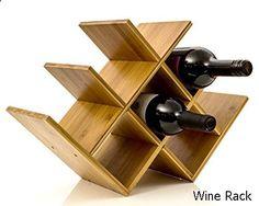 Wine Rack - Wine Rack Wine Holder Wine Storage 8 Bottle Rack Horizontal Storage Compact Design Made of Organic Bamboo by Intriom Bamboo Collection