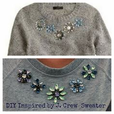 DIY Inspired by J. Crew Jeweled Donegal Sweater