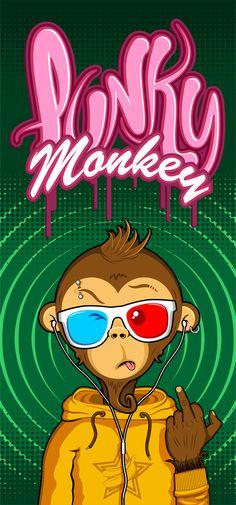 Punky Monkey by Dotcom , via Behance Character Art, Character Design, Monkey Art, Dope Art, Monster, Graffiti Art, Cartoon Art, Vector Art, Graphic Art