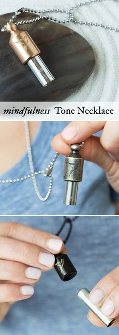 Be mindful and center yourself. This Made in the USA necklace plays a single…