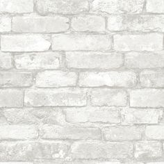WallPops® NuWallpaper Gray and White Brick Peel And Stick Wallpaper |... (130 BRL) ❤ liked on Polyvore featuring backgrounds, wallpaper, filler, decor, texture, effect, phrase, saying, text and quotes