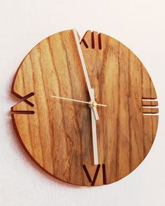 New! Ash Wall Clock This is a great looking clock! 'Like' us at www.facebook.com/NOVAwoodworking and share your wood creations with us!
