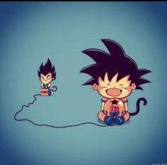 DBZ Goku vs Vegeta lol