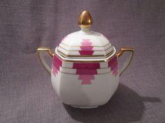 beau sucrier ancien art-deco en porcelaine de limoges in Céramiques, verres, Céramiques françaises, Limoges, Pichets, brocs, cruches | eBay