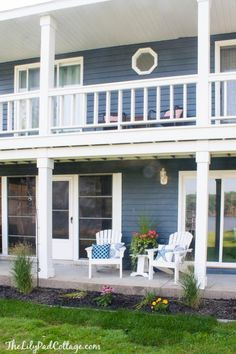 Benjamin Moore Wescott Navy home makeover featured on The Lilypad Cottage
