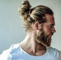 Beard/Hair goals man bun and beard, beard love, sexy beard, blonde bun, sho Man Bun Hairstyles, 2015 Hairstyles, Blonde Hairstyles, African Hairstyles, Sexy Beard, Beard Love, Man Bun And Beard, Hair And Beard Styles, Long Hair Styles