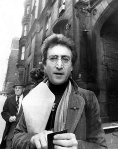 John Lennon outside of the Dakota. December 5, 1980