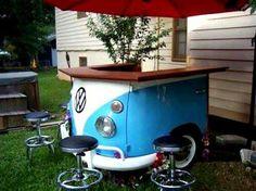 cute idea for outdoor picnic