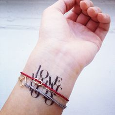 Bracelets - on a side note, I also love the tattoo