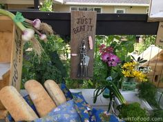 LawntoFood.com ... Garlic and freshly baked baguettes in the neighborhood, urban farm stand, feeding the community ... LIKE! Farm Stand, Urban Farming, Freshly Baked, Ladder Decor, The Neighbourhood, Garlic, Community, Home Decor, Interior Design