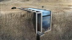 PHOTOS. Cette maison incrustée à flanc de falaise est presque invisible depuis la terre