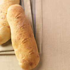 French Loaves Recipe from Taste of Home -- shared by Denise Boutin of Grand Isle, Vermont Looks pretty easy! Loaf Recipes, Cooking Recipes, French Bread Loaf, Tasty Bread Recipe, Fresh Bread, Bread Rolls, Quick Bread, Bread Baking, Grand Isle