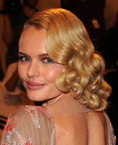 Kate Bosworth Medium Prom Curly Blonde Hairstyle For 2012