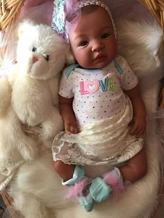 Biracial Lifelike Reborn Baby Girl Doll Cherie