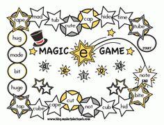 FREE Magic e game boards.