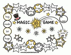 FREE Magic e game boards.