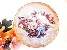 Wall Hanging Plate Romance in Bloom Gloria Vanderbilt Limited