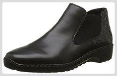 Rieker Damen L6090 Chelsea Boots, Schwarz (Schwarz/Granit / 00), 36 EU - Stiefel für frauen (*Partner-Link)