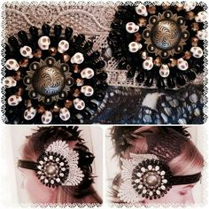 Finished head dress with tribal fusion medallions hand sewn By Rebel Rose Boutique