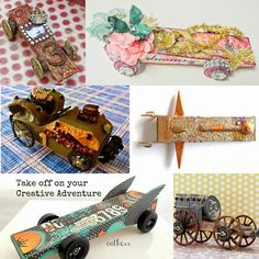 punk projects: Pine Wood Derby Car Makeover- Steampunk Space Ship