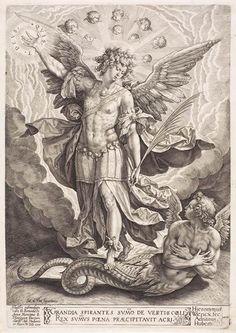 Hieronymus Wierix - St Michael Slaying the Dragon - WGA25739.jpg