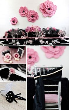 {one pretty pin} Pink and black party inspiration on http://www.chickabug.com/blog