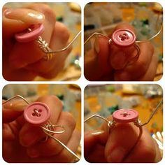 DIY wire wrapped ring, you choose, button, bead, etc  Tutorial