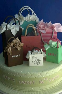 Shopping bag cakes! My kind of sweets!