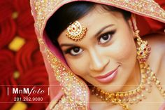 Pakistani bride with pink makeup