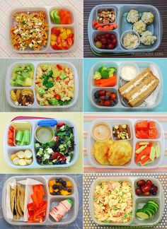 TONS of easy to pack lunches for school and work! | with @EasyLunchboxes and @MOMables