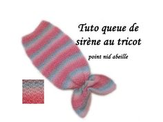 TUTO QUEUE DE SIRENE AU TRICOT POINT NID D'ABEILLE Cover mermaid tail honeycomb stitch knitting - YouTube