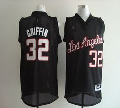Clippers  32 Blake Griffin Black Revolution 30 Stitched NBA Jersey acd42648d