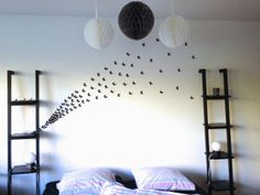 Rebekka's craft room: DIY butterfly wall art/Nuée de papilons sur le mur