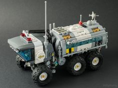 https://flic.kr/p/qFCN1i | Lego 6927 All Terrain Vehicle | or maybe I should say, Shades of Bley Lunar Camper Van Another model inspired by a Classic Space set, but re-imagined in shape and features.