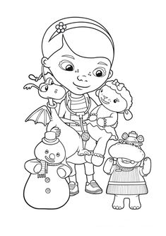 doc mcstuffins coloring pages  Doc McStuffins  Clothes