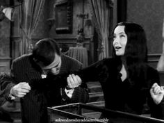 Morticia spoke french again. It drives Gomez wild you know. The Addams Family 1964, Addams Family Tv Show, Adams Family, My Family, Family Values, Gomez And Morticia, Morticia Adams, Charles Addams, Carolyn Jones