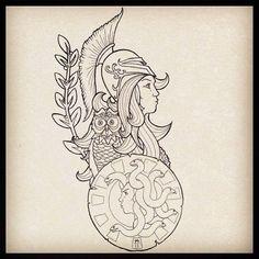 Athena Tattoo  by A7exand3r.deviantart.com on @DeviantArt