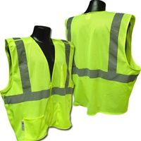 9c8bd9d17221 5 Point Breakaway High Vis Lime Yellow Open Weave Mesh Safety Vest ANSI 107-