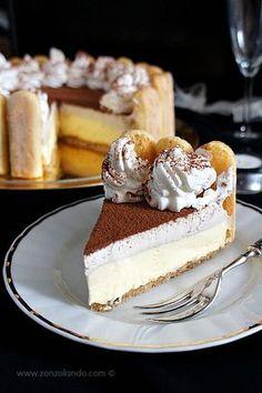 Tiramisù Cheesecake con Mascarpone, Panna Montata e Caffè