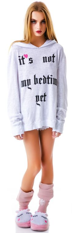 Wildfox Couture Not My Bedtime Yet Gypsy Hoodie | Dolls Kill