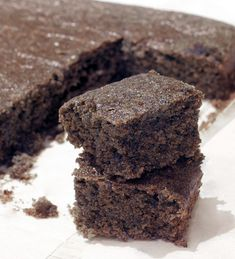 Black Bean Flour Brownies