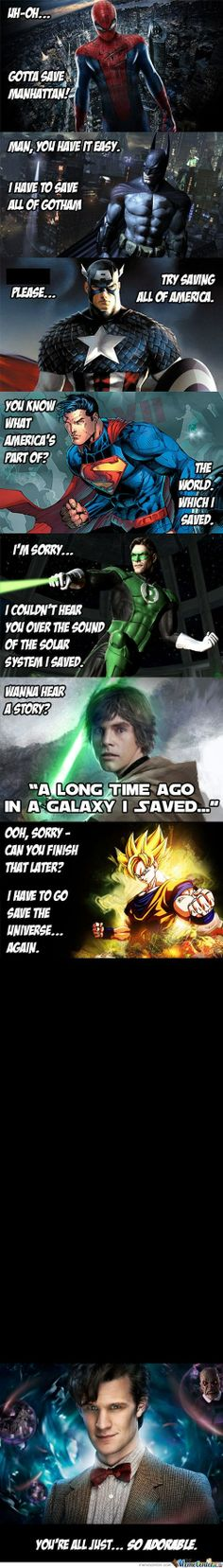 the Doctor, saving all of time and space!