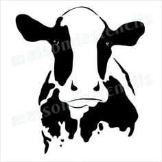 Cow head silhouette 12x12 stencil                                                                                                                                                                                 More