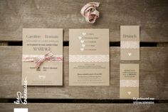 Kraft and liberty wedding invitation made by Les crâneuses – Wedding design. Source by lescraneuses Wedding Paper, Wedding Cards, Wedding Day, Lace Wedding, Diy Invitations, Invitation Cards, Brunch, Maybe One Day, Wedding Preparation