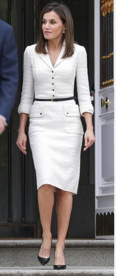 The elegance of the Queen of Spain. 14.05.2018
