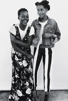Lupita Nyong'o and Letitia Wrigh
