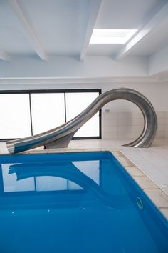 Called Waha, the waterslide takes its name from a term given by surfers to describe the hollow portion of a wave that appears like tube or barrel.