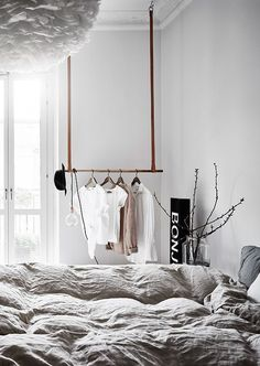 Schlafzimmer / Bedroom Green grey home with character - via Coco Lapine Design Z Mesh, An Innovative Grey Bedroom Design, Bedroom Green, Home Bedroom, Bedroom Decor, Bedroom Designs, Ikea Bedroom, Bedroom Furniture, Bedroom Ideas, Bedroom Rustic